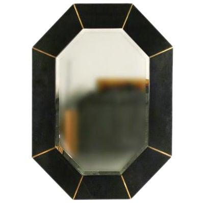 Karl springer beveled octagonal mirror large at 1stdibs for Octagon beveled mirror