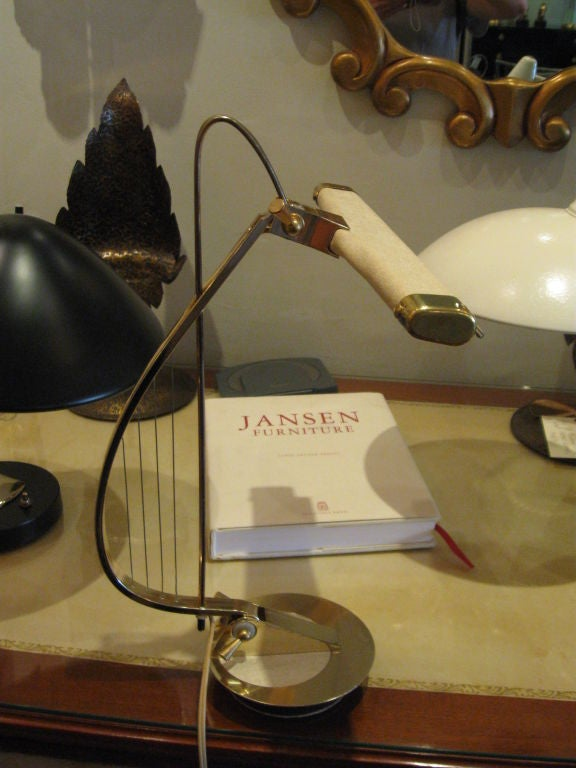 Sculptural Brass Treble Clef Piano Lamp 2