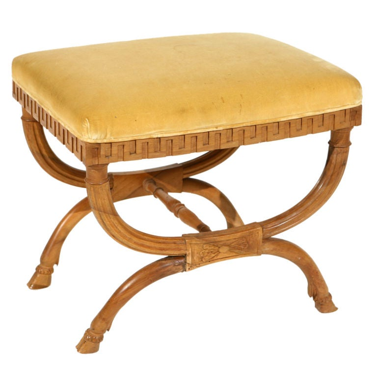 Good Bench Form: Curule Form Bench From The Estate Of Doris Duke At 1stdibs