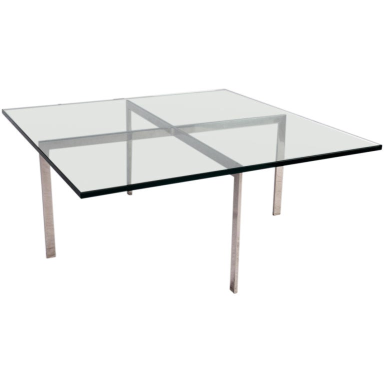 barcelona coffee table by mies van der rohe at 1stdibs. Black Bedroom Furniture Sets. Home Design Ideas