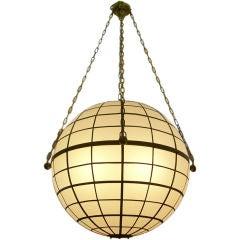 "Oversized Sirmos ""Magellan"" Globe Light Fixture"
