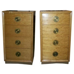 Pair of Red Lion Narrow Chests/Dressers