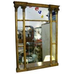 Four Column Gilded Mirror