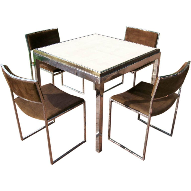 willy rizzo signed card table w flip top to backgammon table at 1stdibs. Black Bedroom Furniture Sets. Home Design Ideas