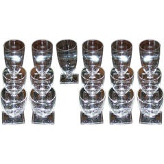 Set of Sixteen (16) American Art Deco Goblets by Heisey