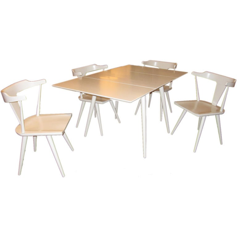 Paul McCobb Planner Group Drop Leaf Dining Table And Four