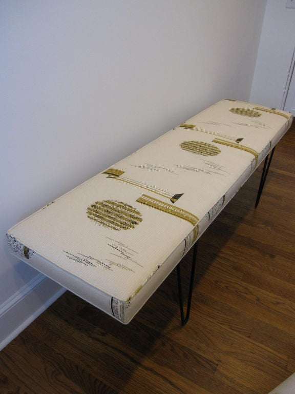 Six Foot Bench With Hairpin Legs At 1stdibs