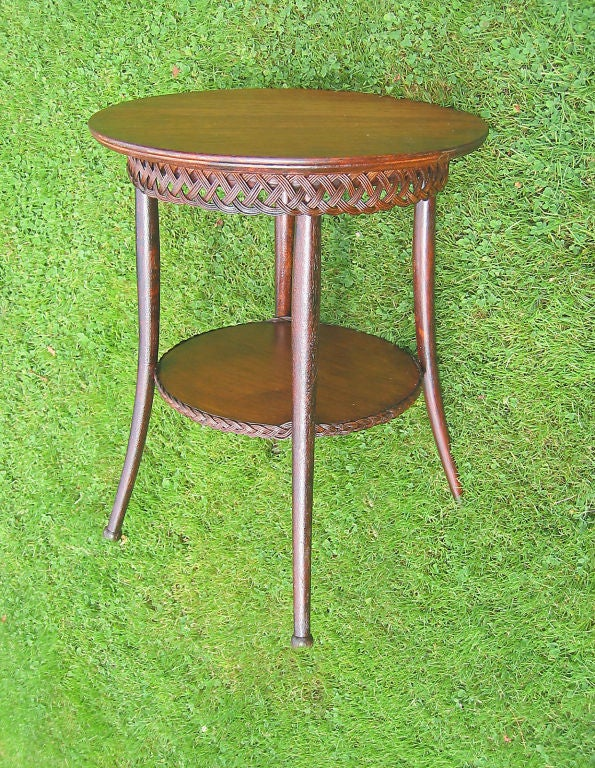 VICTORIAN WICKER TABLE image 2