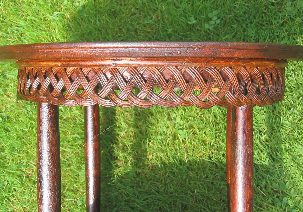 VICTORIAN WICKER TABLE image 3