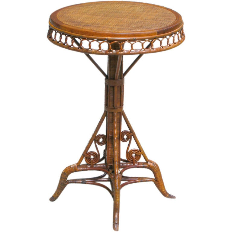 EARLY VICTORIAN WICKER SIDE TABLE At 1stdibs