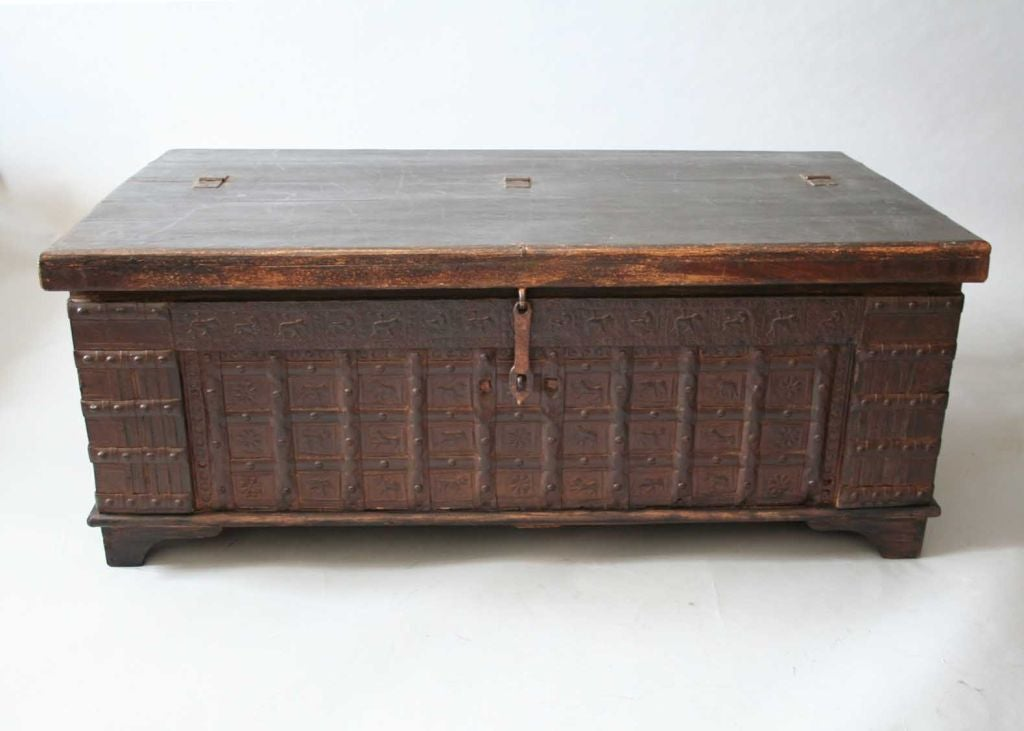 19th Century Indian Trunk Coffee Table At 1stdibs
