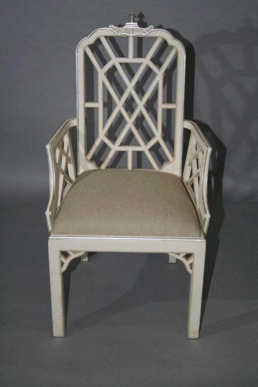 Set Of 8 Chinese Chippendale Style Dining Chairs At 1stdibs