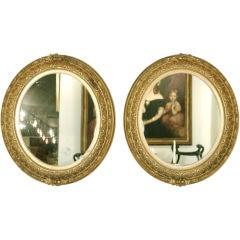 A Pair of Classical American Giltwood Mirrors