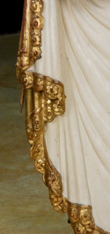 A Painted & Gilt-wood Bed Crown/Architectural Element image 4