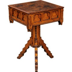 English Country Gothic Pine Centre Table