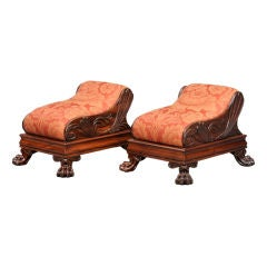 Pair of English Regency Footstools
