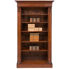 English William IV Open Bookcase