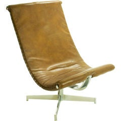 Italian Leather Sling Chair
