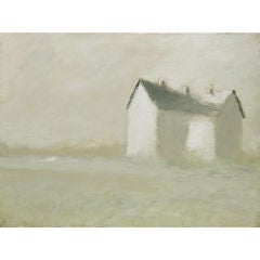 Impressionist landscape with house by Victor Mirabelli