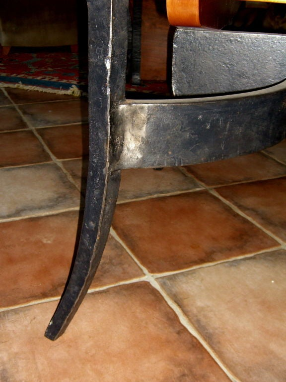 rob hare custom made craftsman dining table mahogany iron 1999 image