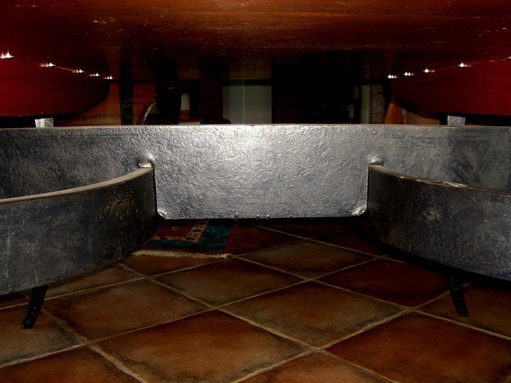 rob hare custom made craftsman dining table mahogany and iron 1999 at