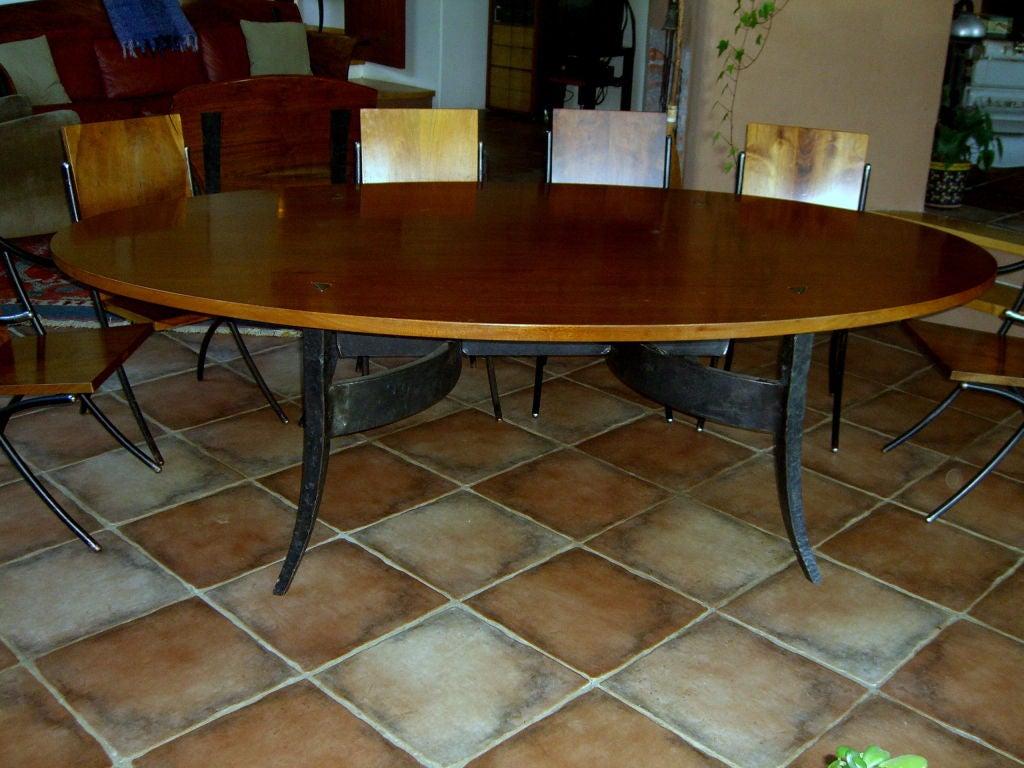 rob hare custom made craftsman dining table mahogany and