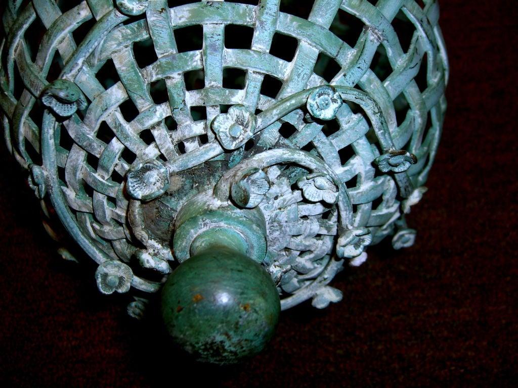 Early 20th Century Wonderful Whimsical Bronze Bird Feeder 4