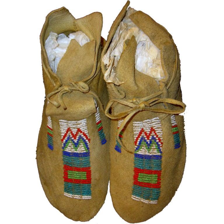 Women's Soft Sole Moose Hide & Deerskin Leather Moccasin Slippers ...