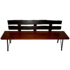 Beautiful craftsman's hand made bench macassar ebony & mahogany