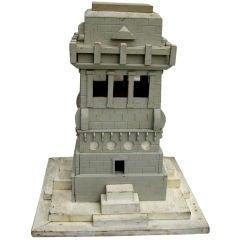Unique vintage wood building model or architectural folly