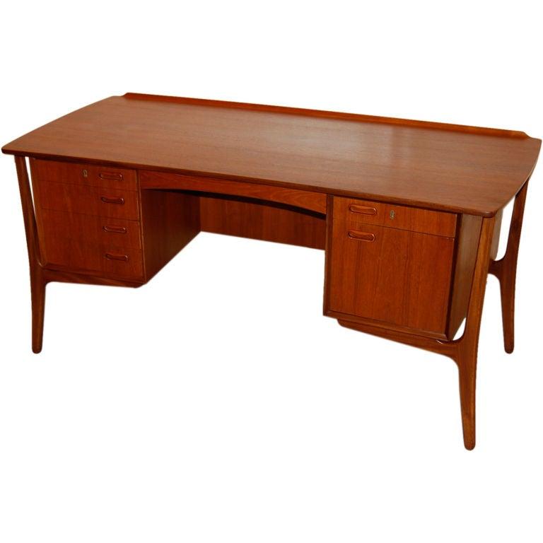 Biomorphic Danish Desk At 1stdibs