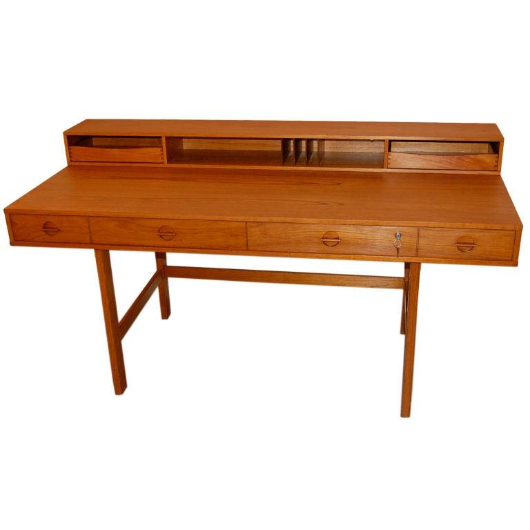 Lovig flip top desk at 1stdibs for Flip top computer desk