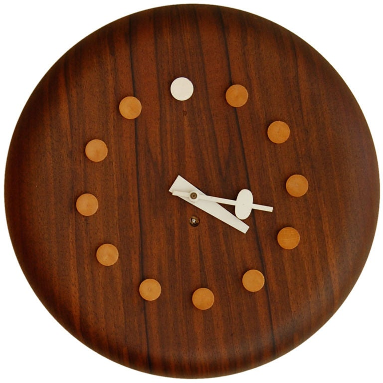 Fritz hansen george nelson wall clock at 1stdibs for Nelson wall clock