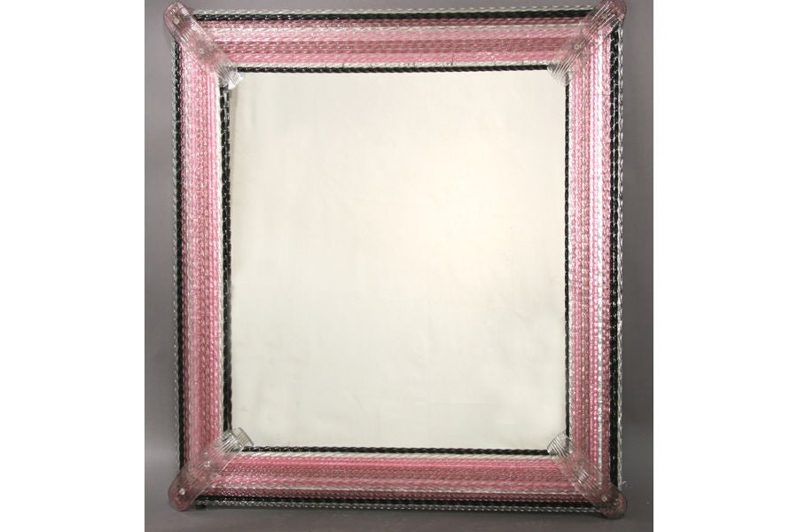 Large Framed Mirror Glasses : Large Murano Glass-Framed Mirror at 1stdibs
