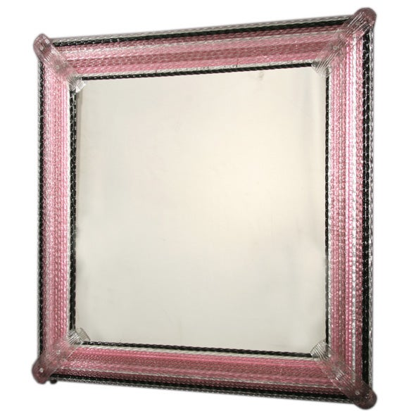 large murano glass framed mirror at 1stdibs