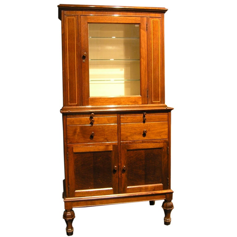 Vintage walnut medical cabinet by hamilton for I furniture hamilton