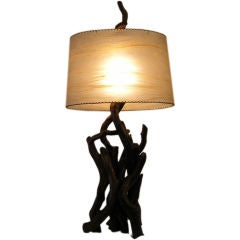 Spectacular 1950's Large Driftwood Table Lamp