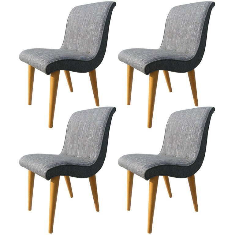 set of four chairs by russel wright for conant ball at 1stdibs