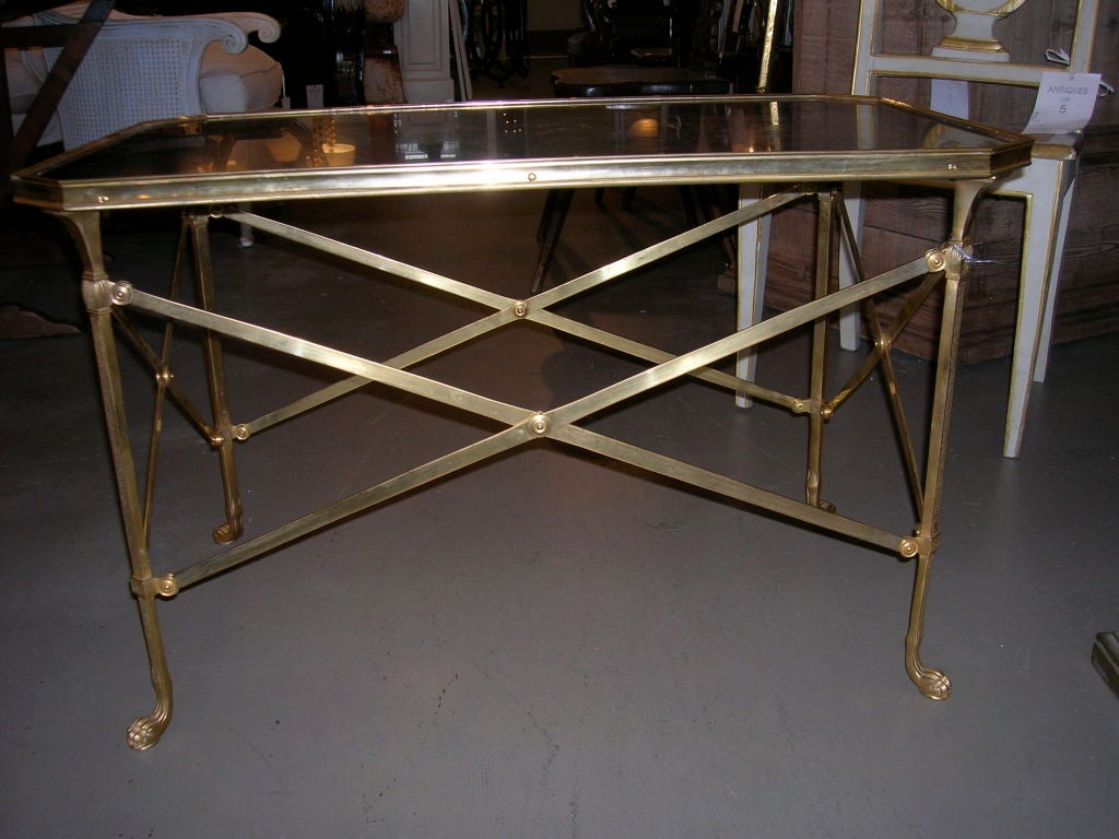 Gilt Bronze Marble Top Coffee Table At 1stdibs