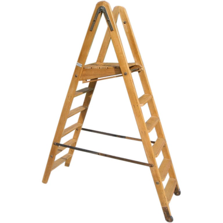 double sided wood ladder 1