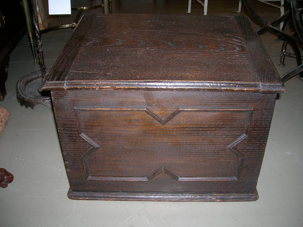 Decorative Kindling Box : English oak kindling box at stdibs