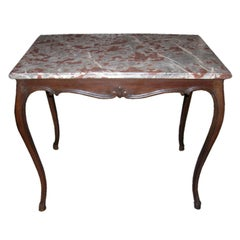 19th Century Louis XV Style Marble-Top Table