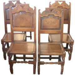 jacobean dining room chairs - 11 for sale at 1stdibs