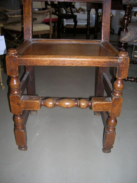 German Set of Four 19th Century Jacobean Side Chairs For Sale