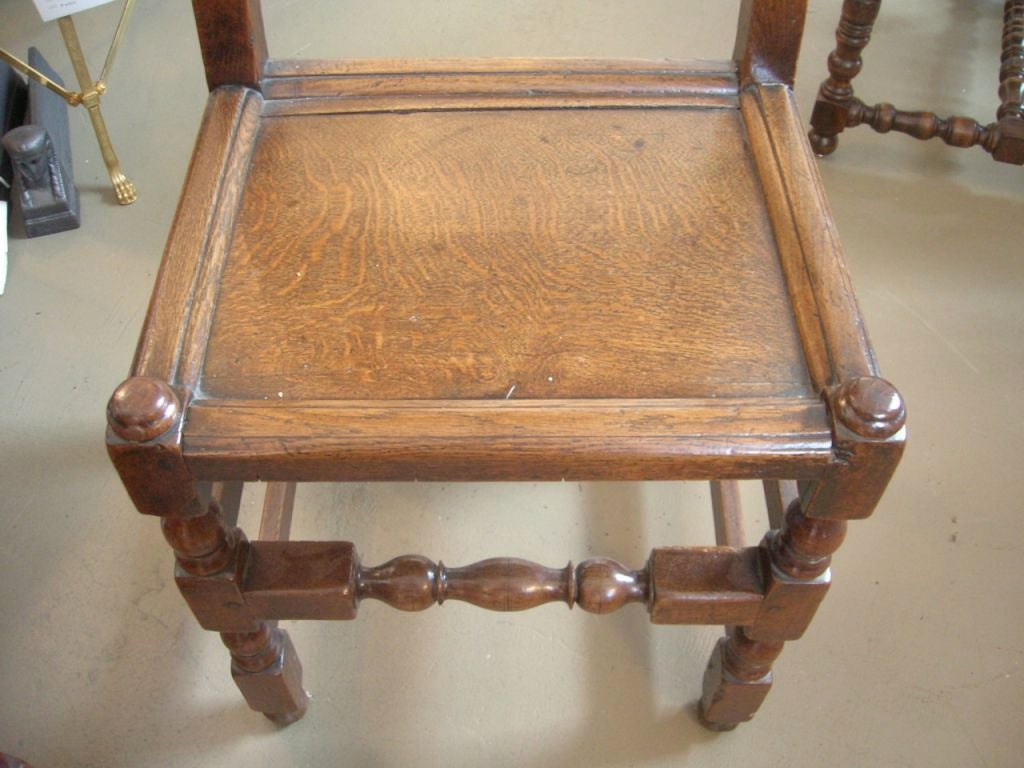 Set of Four 19th Century Jacobean Side Chairs For Sale 2