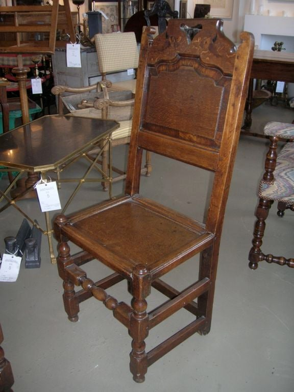 Set of Four 19th Century Jacobean Side Chairs In Good Condition For Sale In Boston, MA