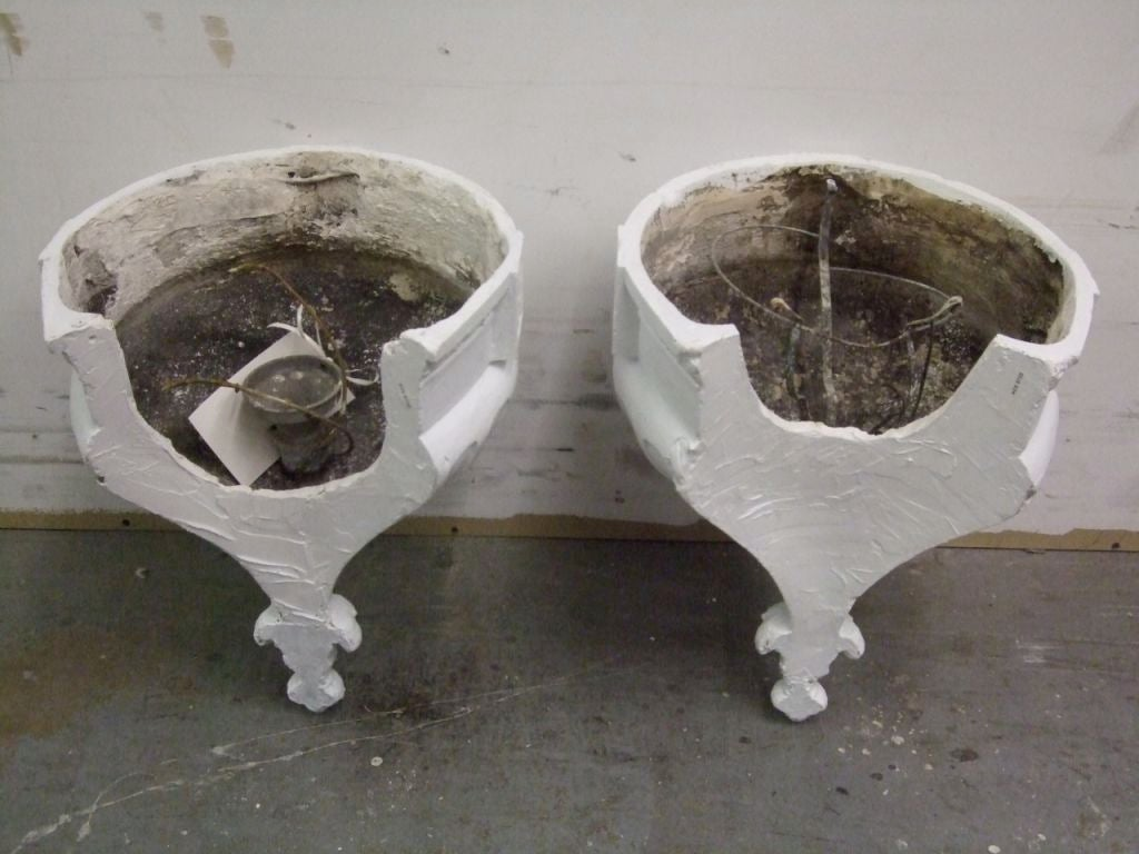 Plaster Cast Wall Lights : Pair of plaster theater wall lights at 1stdibs
