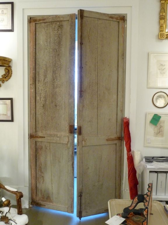 Two Pairs of 18th Century Swedish Painted Doors In Excellent Condition For Sale In Boston, MA