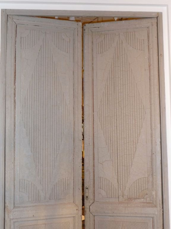 Wood Two Pairs of 18th Century Swedish Painted Doors For Sale