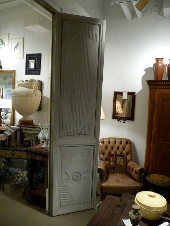 Two Pairs of 18th Century Swedish Painted Doors For Sale 1